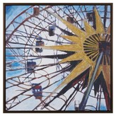 Nobrand No Brand Carnival Ferris Wheel Hand Embroidered with Gray Frame