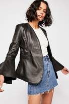 Understated Leather Studded Leather Belle Blazer