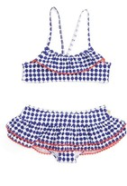 Kate Spade Girl's Ruffle Two-Piece Swimsuit
