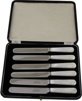 One Kings Lane Vintage Mother-of-Pearl Butter Knives, S/6