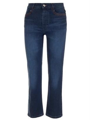 Chloé Faded Capri Straight-Leg Jeans