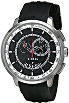 Versus By Versace Men's SGV080014 Manhattan Stainless Steel Watch with Black Rubber Band