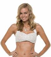Jantzen Dolce Vita Lace Shirred Bandeau Bikini Top 8114264