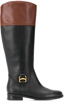 Lauren Ralph Lauren two tone knee-height boots