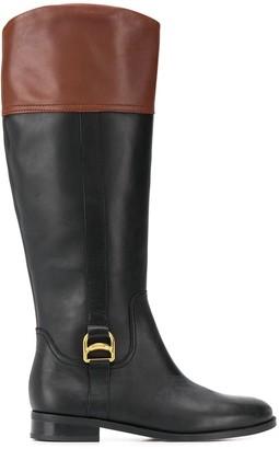 Lauren Ralph Lauren two tone knee-height boots