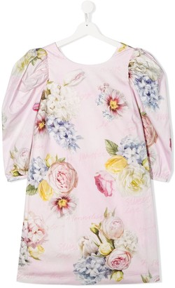 MonnaLisa TEEN floral mini dress