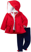 Little Me Red Flower 3-Piece Jacket Set (Baby Girls)