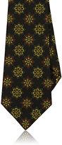 Kiton Men's Floral Silk Faille Necktie-BLACK