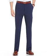 Roundtree & Yorke Flat-Front Travel Smart Non-Iron Basketweave Dress Pants