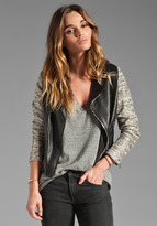ELKIN Espar Tweed and Leather Jacket