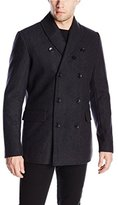 Ben Sherman Men's Shawl Collar Pea Coat