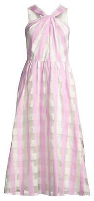 Kate Spade Gingham Organza Midi Dress