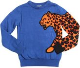 Paul Smith Leopard Intarsia Cotton Blend Sweater