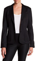 ATM Anthony Thomas Melillo Front Button Solid Blazer