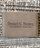 Stamp Out Online Card Holders - Light Brown Divider Personalized Business Card Holder