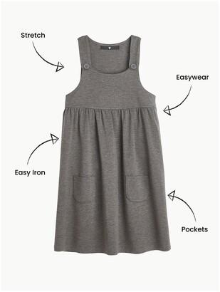 Very Girls 2 Pack Jersey PinaforeSchool Dresses - Grey