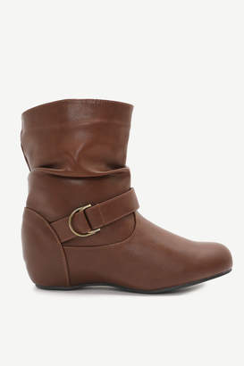 Ardene Mid-Calf Faux Leather Boots - Shoes |