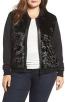 Tart Plus Size Women's Watson Faux Fur Bomber Jacket