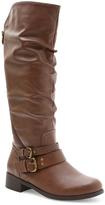XOXO Brown Morgan Wide Calf Boot