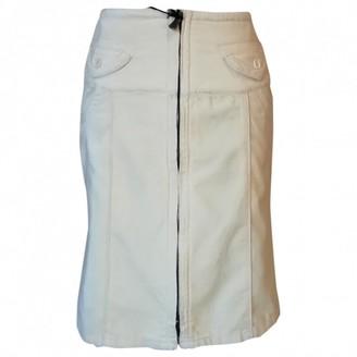 Calvin Klein Yellow Cotton Skirts