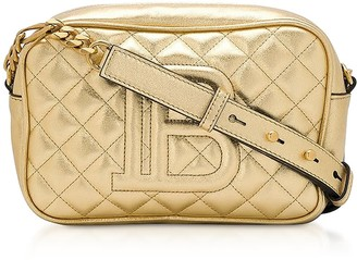 Balmain Gold Laminated Leather 18 B-camera Bag