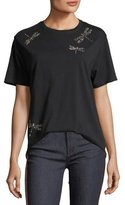 RED Valentino Studded Dragonflies Jersey T-Shirt