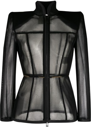 Fendi Mesh Long-Sleeved Top