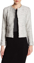 Susina Raw Trim Knit Blazer
