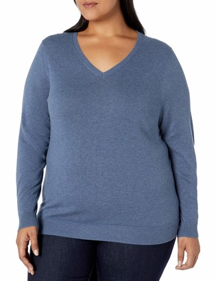 Amazon Essentials Women's Plus Size Lightweight V-Neck Sweater