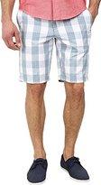 Original Penguin Men's Plaid Cotton Poplin Slim Fit Shorts Faded Denim Shorts