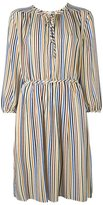 Vanessa Bruno striped peasant dress - women - Silk - 36