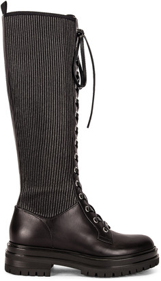 Gianvito Rossi Lace Up Boots in Black | FWRD