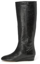 Matilde Embossed Snake Boot in Black