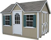 Little Cottage Company Classic Wood Cottage DIY Playhouse Kit, 10' x 10'