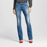 Mossimo Women's Mid-rise Skinny Bootcut Jeans Medium Wash