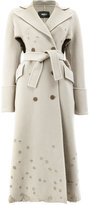Yang Li cut out distressed coat