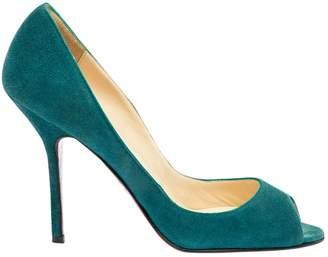 Christian Louboutin \N Green Suede Heels
