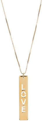 Melanie Marie Gold Plated Word Bar Pendant Necklace