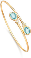 Kiki McDonough Eternal Blue Topaz & Diamond Bypass Bangle Bracelet