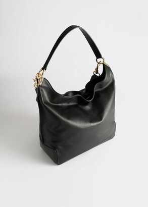 And other stories Slouchy Duo Strap Leather Bag