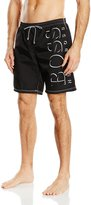 HUGO BOSS Men's Swim Shorts in New Killifish Style, Black Large