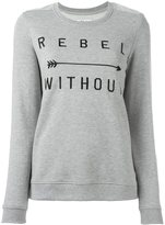 Zoe Karssen embroidered 'Rebel Without' sweatshirt