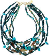 Devon Leigh Multi-Strand Turquoise & Teal Pearl Necklace