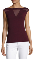 Bailey 44 Baotneck Cap Sleeve Top