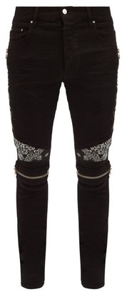 Amiri Mx2 Bandana Jeans - Black