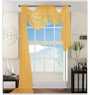 "Elegant Comfort Beautiful Window Panel Curtain Sheer Voile Scarf 55"" X 216"" - 55"" x 216"" - 55"" x 216"""