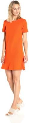 Paris Sunday Women's Short Sleeve Bottom Flounce Textured Dress
