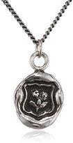 Pyrrha Unisex 925 Sterling Silver Flower Talisman Necklace