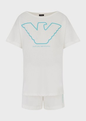 Emporio Armani Organic Cotton Pyjamas With Eagle Logo
