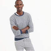 J.Crew Cotton-linen crewneck sweater in navy stripe